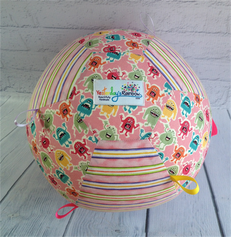 Balloon Ball: Taggie: Pink & Striped Monsters.